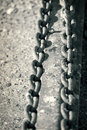 Metal chains Royalty Free Stock Images