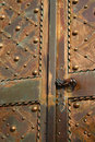 Metal church door Stock Image