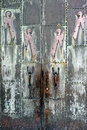 Metal church door ornate with angels Royalty Free Stock Photo