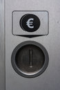 Metal Coin Slot Diagram Euro Closed Secure Payment Machine Royalty Free Stock Photo