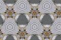 Metal condensation mandala pattern
