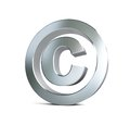 Metal copyright sign 3d Illustrations Royalty Free Stock Photography