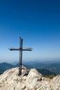 Železný kríž na vrchole hory