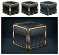 Metal cube Royalty Free Stock Photo