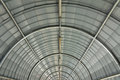 Metal curve roof structure Stock Photo