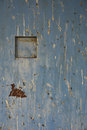 Metal door with birds dropping at sekinchan malaysia Stock Photo