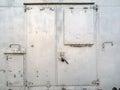 Metal door closed of refrigerator Stock Photography