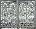 Metal Door Decoration (abstract nature element) Royalty Free Stock Photo