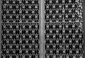 Metal door grill Royalty Free Stock Photo
