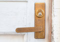 Metal door handle old style Royalty Free Stock Photo
