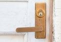 Metal door handle old style Royalty Free Stock Photo