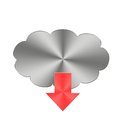 Metal download button. Royalty Free Stock Photo