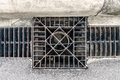 Metal drain cover image of rusty Stock Images