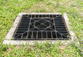 Metal drain cover image of rusty Stock Photos