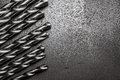 Metal drill bits Royalty Free Stock Photo