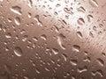 Metal e gotas Imagem de Stock