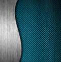 Metal and fabric material template background Royalty Free Stock Photos