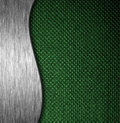 Metal and fabric material template background texture Royalty Free Stock Image