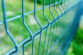Metal fence wire Royalty Free Stock Photo