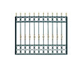Metal fencing. Royalty Free Stock Photo