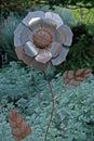 Metal Flower Sculpture Royalty Free Stock Photo