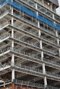 Metal frame building under construction multistorey of Royalty Free Stock Images