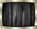 The metal frame on a dark wooden background 10 Stock Photography