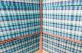 Marco techo azul tartán tela