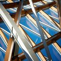 Metal frame structure Stock Photography