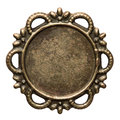 Metal frame vintage brass isolated Royalty Free Stock Photo
