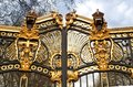 Metal gate in kensington palace london Royalty Free Stock Photo