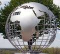 Metal globe Royalty Free Stock Photo