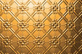 Metal Gold Christmas Background Royalty Free Stock Photo