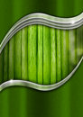 Metal and green organic background natural business with material Stock Photos