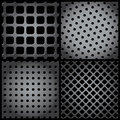 Metal grid collection Royalty Free Stock Image