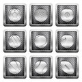 Metal grid icons Royalty Free Stock Photo