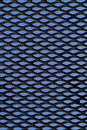 Metal grid over blue background Royalty Free Stock Photo