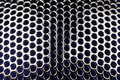 Metal Grid with Round Cells as Background Stock Photography