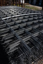 Metal grid sheets are stacked in a pack Royalty Free Stock Photo