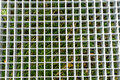 Metal grid structure close up