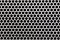 Metal grill dot pattern close up Royalty Free Stock Image