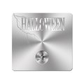 Metal Halloween button. Royalty Free Stock Photos
