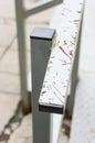 Metal handrail close up of Stock Photos