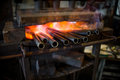 Metal is heated to be red-hot Royalty Free Stock Photo