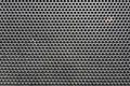 Metal honeycomb grilled pattern in front of music speaker as bac