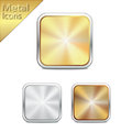 Metal icons gold silver bronze with and color and pattern Stock Photos