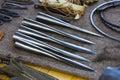 Metal javelins Royalty Free Stock Photo