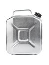 Metal jerrycan isolated on white background Royalty Free Stock Photography