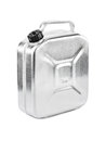 Metal jerrycan isolated on white background Royalty Free Stock Images