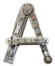 Metal letter industrial alphabet a Royalty Free Stock Photography